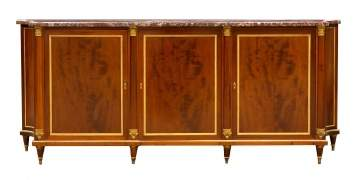 French Mahogany and Bronze Sideboard