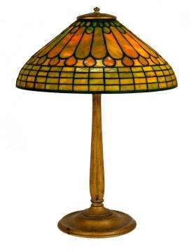 Tiffany Studios, NY Jeweled Feather Table Lamp