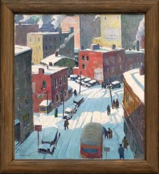 "Carl Peters (American, 1897-1980) ""Elm Street, Rochester, NY"""
