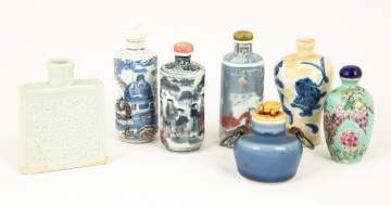 Various Chinese Hand Painted Snuff Bottles