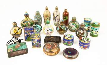 Group Various Chinese Cloisonné Items