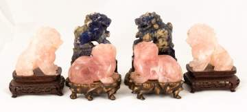 Chinese Carved Hardstone Foo Dogs