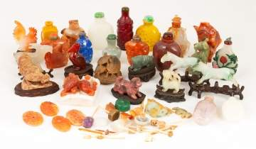 Group Chinese Hardstone Items