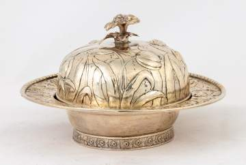 S. Kirk Sterling Silver Repoussé Butter Dish