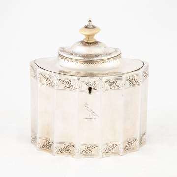 Sterling Tea Caddy by Hennell