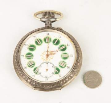 Large French Exhibition Pocket Watch