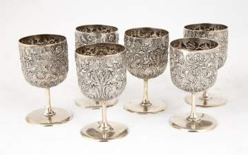 Six English Sterling Cups