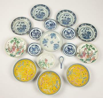Group Chinese Porcelain Hand Painted Plates, etc.