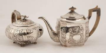 Two English Sterling Silver Teapots