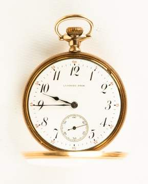 Lambert Brothers Gold Pocket Watch