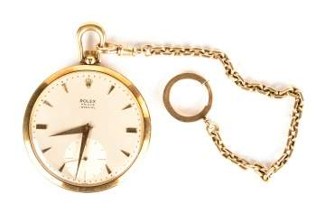 Rolex Prince Imperial 14k Gold Pocket Watch & Fob