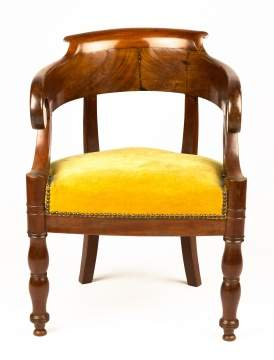 Charles X Mahogany Tub Chair