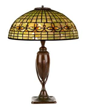 Tiffany Studios, New York Leaded Glass Table Lamp