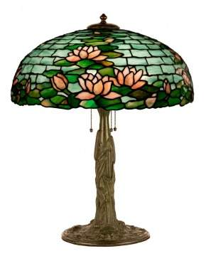 Duffner Kimberly Water Lily Leaded Glass Table Lamp