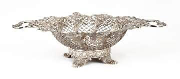 Sterling Silver Reticulated and Repoussé Basket
