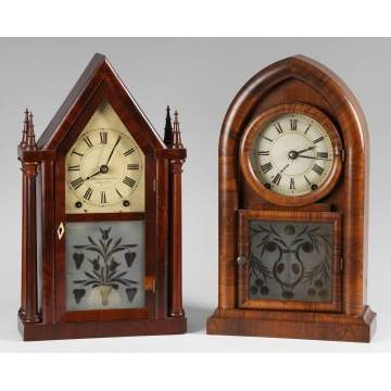 2 Brewster and Ingraham Shelf Clocks