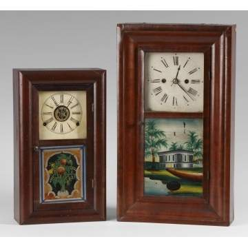2 Miniature Ogee Shelf Clocks