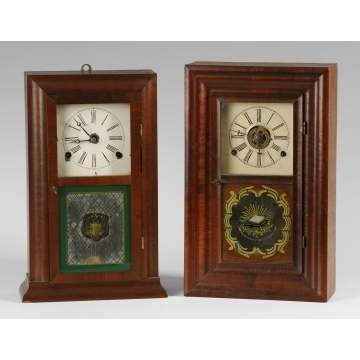2 Smith & Goodrich Ogee Shelf Clocks