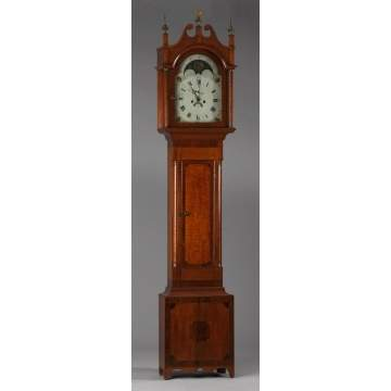Maple Tall Case Clock, Probably New York