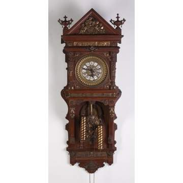 Wall Hanging Grandfather Clock fine antique clock auction | cottone auctions