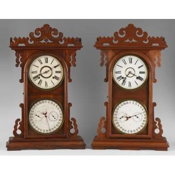 2 E.N. Welch Ardita Model Shelf Clock