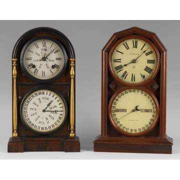2 Calendar Shelf Clocks