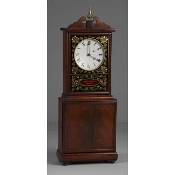 Elmer Stennes Massachusetts Shelf Clock, Aaron Willard Style