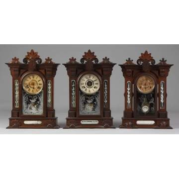 3 Gilbert Amphion Shelf Clocks