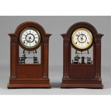 2 Kroeber Shelf Clocks with Musical Bells