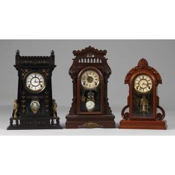 3 Kroeber Shelf Clocks
