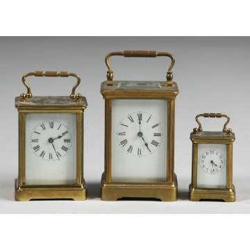 3 Carriage Clocks