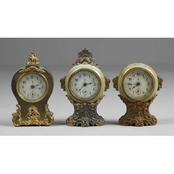 3 Kroeber Small Shelf Clocks