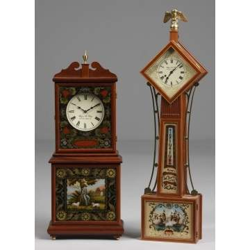 2 Wayne Cline Miniature Clocks