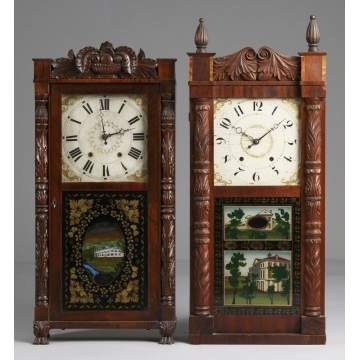 L - Seymour, Williams & Porter Shelf Clock R - Jerome & Darrow Shelf Clock