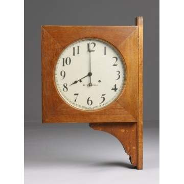 Seth Thomas Double Sided Clock