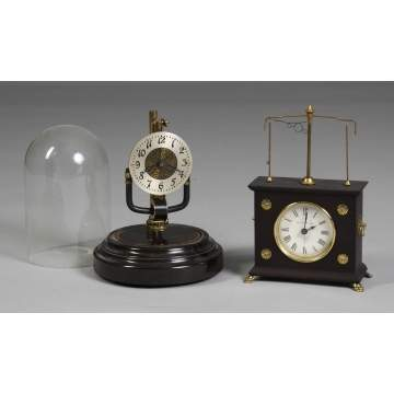 L - Bulle Electric Clock, R - Hobolovar Flying Pendulum Clock, Ignats Clock.