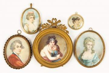 Group of Miniature Hand Painted Portraits
