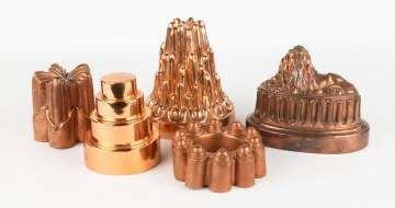 Group of Copper Molds