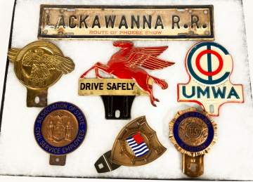 License Plate Topper, Mobil, Pegasus and other Items