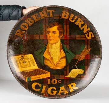 Robert Burns Ten Cent Cigar Tin Advertising