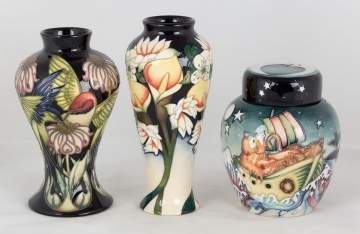 Three Pieces of Contemporary Moorcroft