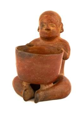 Pre Colombian Modeled Redware Effigy