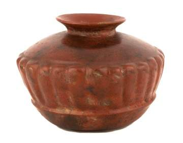 Pre Colombian Squash Form Red-Ware Bowl