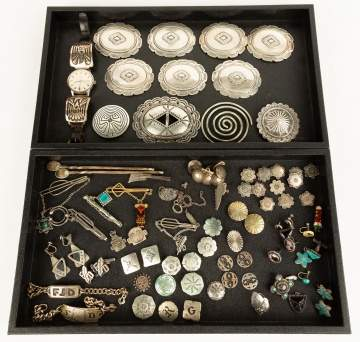 Navajo Silver Belt Buckles, Jewelry, etc.