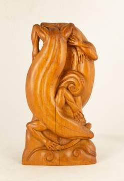 Carved Lizards Intertwined by I. Penet.