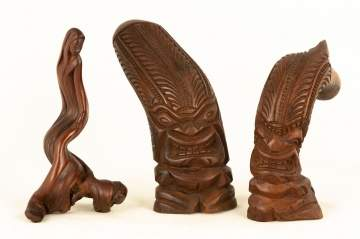 Three Tribal Carvings