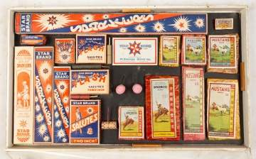 Vintage Salesman Sample Fireworks Pack Board