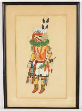 Watercolor of Tashap-Quivi Kachina