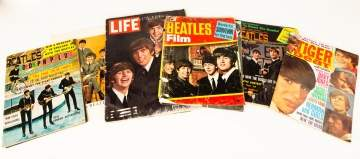 Collection of Beatles, Paul McCartney Records & Magazines