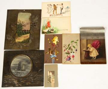 Group of Early Paintings & Miniature